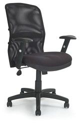 Mesh Back Managers Armchair With Adjustable Lumbar Support