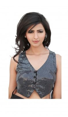 Waistcoat shaped saree blouse patterns are latest trend  recommended for all body type women. For more detail visit http://www.kbshonline.com/