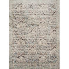 Refresh the dining room or home office with this lovely rug, showcasing a weathered floral motif.Product: RugConstruc...