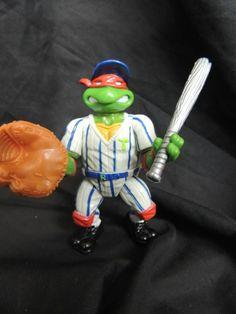 Grand Slammin' Raph Baseball Raphael 1991 TMNT Teenage Mutant Ninja Turtle Toy