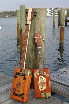 Cigar Box Guitar and Mandolin Photograph  - Cigar Box Guitar and Mandolin Fine Art Print