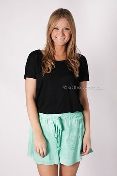 sweet touch shorts - mint - Esther boutique - WANT