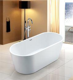 Op zoek naar een Adema Eloise vrijstaand bad 170x75x59cm met badwaste acryl wit? Bestel deze en andere Adema Eloise producten voordelig online bij Sanitairwinkel.be