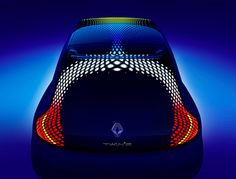 Renault has revealed the Twin'Z Concept, a study of an electric city car developed in collaboration with British designer Ross Lovegrove. Porsche 918, Interior Design Degree, Exterior Design, Car Head, City Car, Futuristic Cars, Transportation Design, Car Lights, Sexy Cars