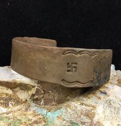 Museum Quality, Early 1900's Whirling Logs Native American Cuff Bracelet, Unique #HandMadeNativeAmericanJewelry