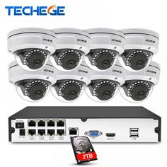 Techege 8CH 1080P POE NVR Video Surveillance Camera System 2MP HD Network IP Camera Weatherproof Vandalproof CCTV NVR System  Price: $ 353.99 & FREE Shipping   #rc #security #toys #bargain #coolstuff #headphones #bluetooth #gifts #xmas #happybirthday #fun