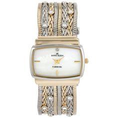 Anne Klein Women's  Two-Tone Multi-Chain Bracelet Watch