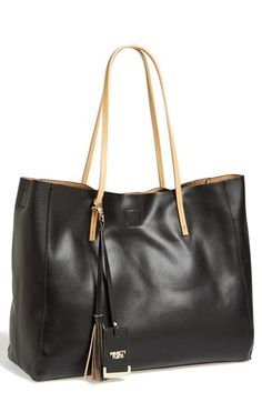 Faux leather shopper - $58 and WANT!