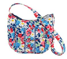 4958b6868c2e Vera Bradley Clare in Summer Cottage The Lizzy now has an older sister.  Clare has an adjustable strap to make carrying shoulder or crossbody-style  simple.