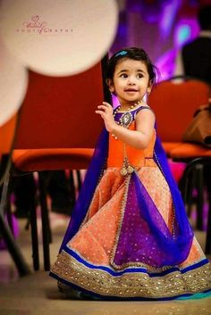 Presenting Indian Kids Wear Designers Whose Exclusive Creations Have Stolen Our Hearts Kids Indian Wear, Kids Ethnic Wear, Little Girl Dresses, Girls Dresses, Baby Dresses, Lehanga For Kids, Kids Lehanga Design, Kids Blouse Designs, Kids Lehenga