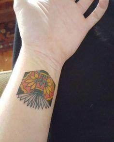 Book Tattoo on Wrist by David Bruehl