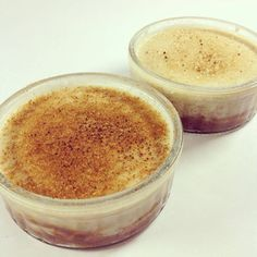 Coconut crème brûlée with salty caramel creme / Kokos-Crème Brûlée mit Salzkaramell - #vegan -