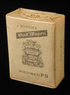 Pakje tabak van Van Rossem, productnaam Oud Wapen