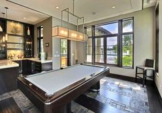 Billiards Room with a bar