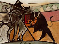 'Stierkampf' von Pablo Picasso (1881-1973, Spain)