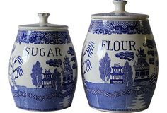 Blue Willow Kitchen Canisters, Pair on OneKingsLane.com