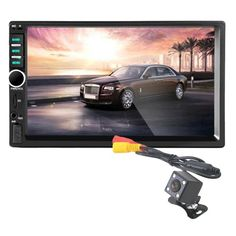 81.50$  Watch now - http://alid8b.worldwells.pw/go.php?t=32749392951 - G1 New Bluetooth Car Stereo Audio In-Dash Aux Input Receiver SD/USB MP5 Player + Camera 8701 Car Styling Electronic Accessories 81.50$