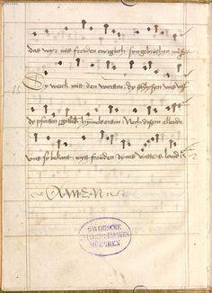 Sequentia 'Ave praeclara', Teutonicis verbis Erffordie compillatus 1492  Cgm 7351  Folio 14