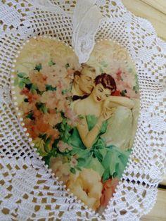 Wooden heart Romantic heart Valentines day by DecoupageMezzanine