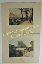 Two Victor Valery (1881-1910) Copper Etchings WWW.JJAMESAUCTIONS.COM