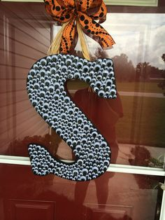 Halloween Googly Eye Letter Door Hanging by HowlingWolfCrafts, $22.50 A MUST HAVE FOR HALLOWEEN!!!