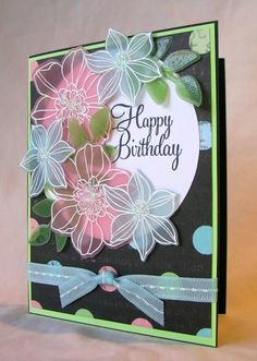 Soft Flowers by Pam MacKay - Cards and Paper Crafts at Splitcoaststampers