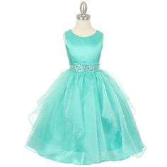 - Girls Dress Style 1198 - Layered Organza Dress with Beaded Waist in Choice of Color - Girls-Dresses - Flower Girl Dresses - Flower Girl Dress For Less Wedding Dress Organza, Wedding Flower Girl Dresses, Organza Dress, Flower Girls, Girls Pageant Dresses, Little Girl Dresses, Cotillion Dresses, Beach Dresses, Turquoise Flower Girl Dress