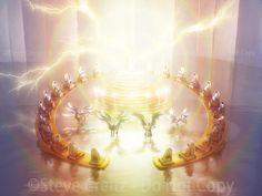 Revelation Bible Study, Scripture Study, Bible Art, Angel Illustration, Heaven Art, Cross Wallpaper, Black Jesus, Jesus Painting, Spirituality