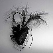 black feather cocktail fascinator