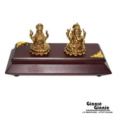 This Ginnie & Ginnie Exclusive Laxmi Ganesh Kamal Small with MDF base is a product from our Statue & Sculptures Collection. It is made of Brass and it got Brass finish on it. Its approx LxWxH is 1.5x1.5x2 inches. It is of approx 280 grams. Unique Code of this product is M400342.02