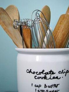 i like the recipe on the utensil canister