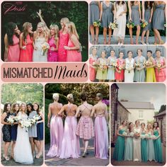 Mismatched Bridesmaids dresses give you, and your bridesmaids many options. Check out this post with many different options to choose from.