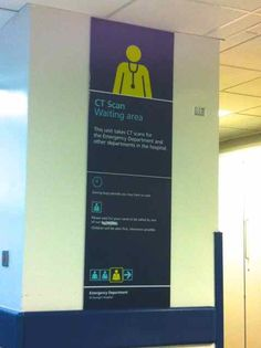 Great hospital signage at St Georges