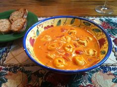 Creamy Tomato Basil Tortellini Soup: rich creamy tomato soup with some tortellini to fill your tummy. Serve with some hot garlic bread! I just combined a few of my favorites from other recipes and added some parmesan it was a hit. Hope you enjoy it too! Other Recipes, Great Recipes, Favorite Recipes, Tomato Tortellini Soup, Tomato Soup, Soup Recipes, Cooking Recipes, Recipies, Dinner Recipes