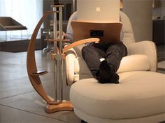 The Lounge-Tek Laptop Desk Keeps It Compact & Efficient