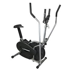 I J Fitness Elliptical Cross Trainer Bike 2 IN 1 Exercise Machine Upgrad Version With Heart Monitor *** Be sure to check out this awesome product.