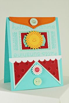 Sunshine Card by Erin Lincoln for Papertrey Ink (April 2012)