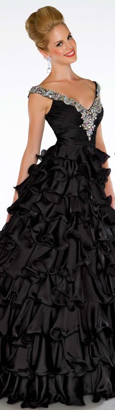 Mac Duggal couture dress black #long #formal #dress #black BALL GOWNS STYLE 4961H