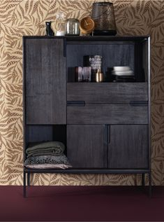 Highboard cabinet Gavi - Lilly is Love Wall Cupboards, Retro Interior, Furniture, Living Room Inspiration, Retro Cabinet, Natural Wood Furniture, Fashion Room, Cabinet, Modern Cupboard