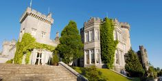 Stone steps lead up to Dromoland Castle, with high stone walls, multiple windows and climbing ivy Disney Destinations, Disney Resorts, Disney Vacations, Disney Trips, Dream Vacations, Family Vacation Packages, Visit Dublin, Disneyland Vacation, Adventures By Disney