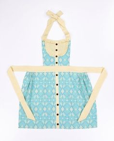adorable full bib and skirt apron: The link is not a tutorial or pattern, but I think I can figure out a pattern from the photo.