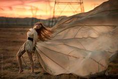 LOOOOOVE this fashion shot! Gorgeous pose and showcase of the dress!  California desert shoot: Lindsay Adler & Brooke Shaden