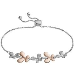 Lily & Lace Cubic Zirconia Two Tone Butterfly Bracelet ($20) ❤ liked on Polyvore featuring jewelry, bracelets, white, cz jewellery, 14k bangle, cubic zirconia jewelry, butterfly bangle and butterfly jewelry