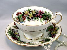 Reserved for SC.Paragon Footed Teacup & Saucer Lovely Floral