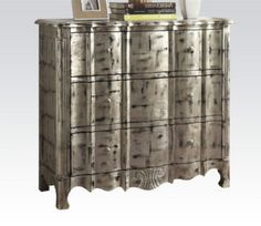 Acme Furniture - Janeen 3 Drawer Chest in Antique Silver - 90084