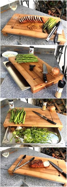 Cutting board is available in the market and everyone knows it, but the one if created at home offers adding something that helps in cutting the vegetables or meat the way a person likes. So, here is a repurposed wood pallet cutting board idea.
