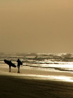 The Early Surfer Catches the Wave