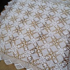 Crocheted Tablecloth. Vintage hand Crocheted white table blanket.Vintage home decor.Doily old hand made crochet table runner.Shabby Chic This is absolutely gorgeous in person.