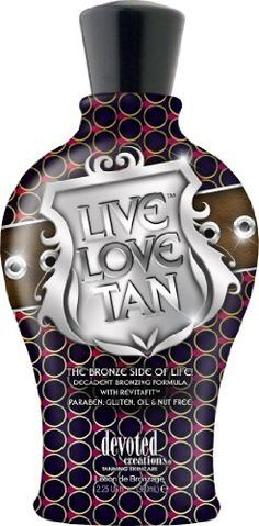 Devoted Creations LIVE LOVE TAN Bronzer Tanning Lotion 12.25 oz. by Devoted Creations. $25.31. Bronzing Formula. Bronzer/Tan Enhancer MelaDark Complex Interacts with the skin to produce the most natural looking dark tan. Acai Oil A powerful fruit oil loaded with antioxidants. Matrixyl Targeted antiaging complex that reduces the appearance of wrinkles. EsterC Protects the skin from free radical damage, promotes even pigmentation and replenishes the skins moistu...