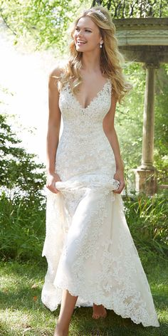 Gorgeous Tulle V-neck Neckline Mermaid Wedding Dresses With Beaded Lace Appliques NEW! Gorgeous Tulle V-neck Neckline Mermaid Wedding Dresses With Beaded Lace AppliquesNEW! Gorgeous Tulle V-neck Neckline Mermaid Wedding Dresses With Beaded Lace Appliques Rustic Wedding Dresses, Lace Weddings, Dream Wedding Dresses, Bridal Dresses, Bridesmaid Dresses, Beaded Dresses, Dresses Dresses, Wedding Ideas, Elegant Dresses